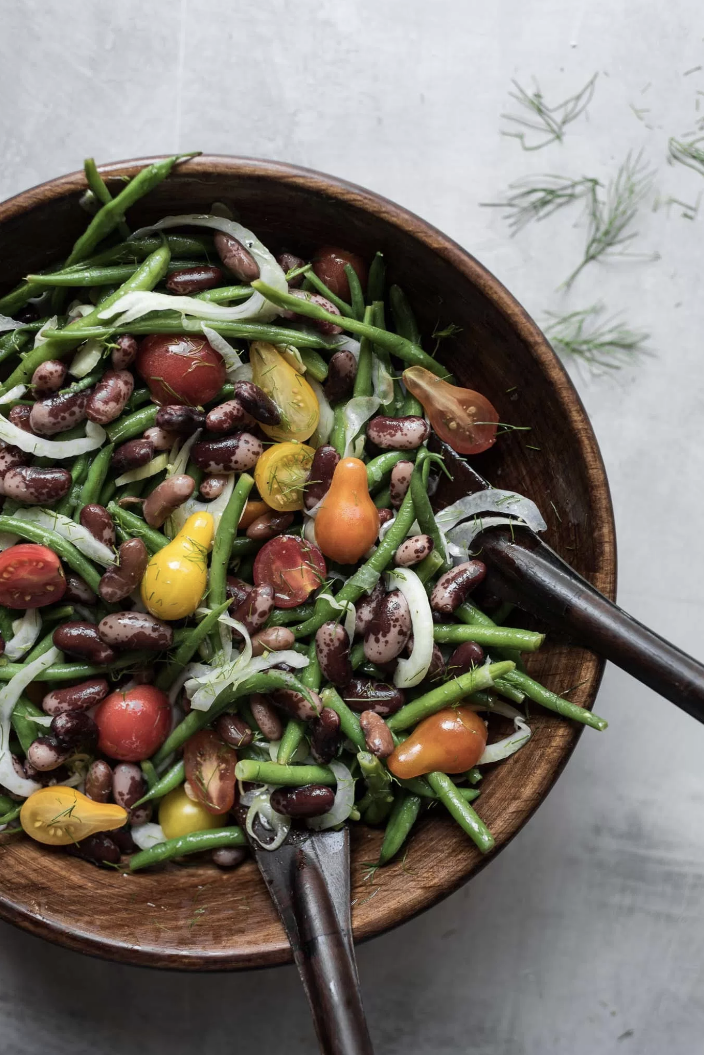 Heirloom Cattle Bean Salad by Bella of @ful.filled