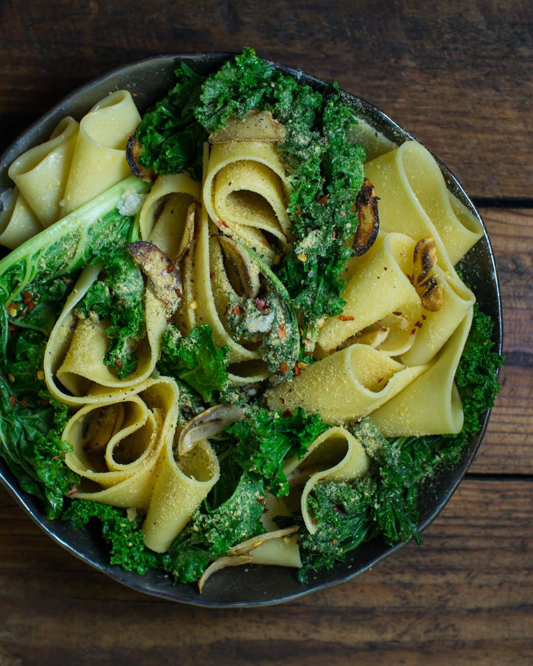Cheesy Kale Pasta by Timothy
