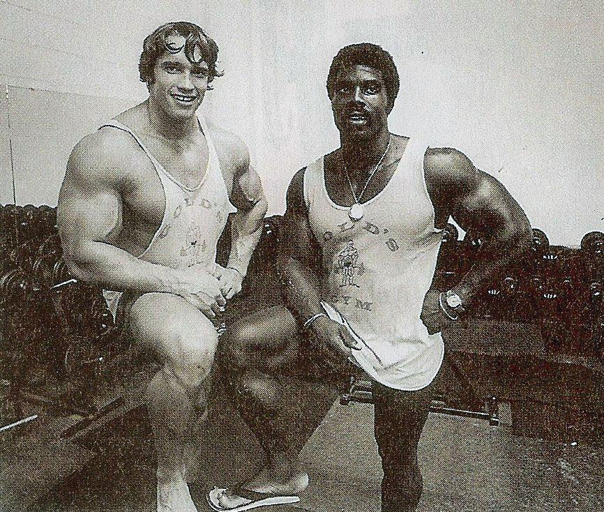 Arnold Schwarzenegger old-school Gold's Gym