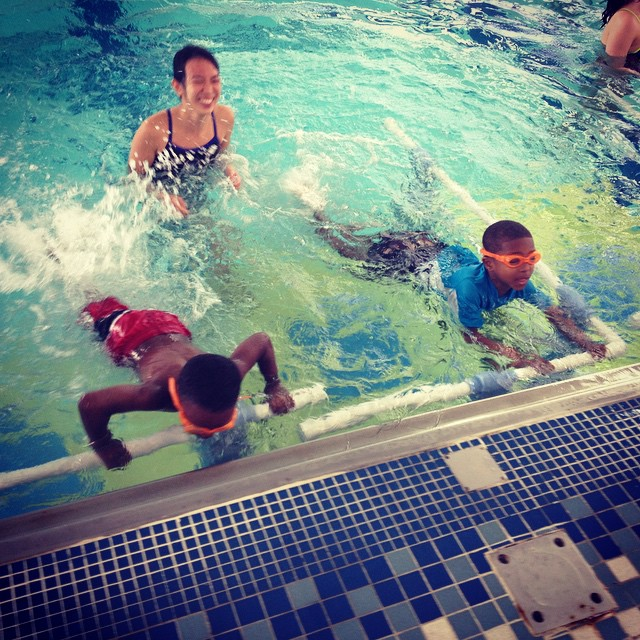 Look at our powerful kicks! For more about swim4success check us out at http://swim4success.com #swim4success #weektwo #kicking #freestyle