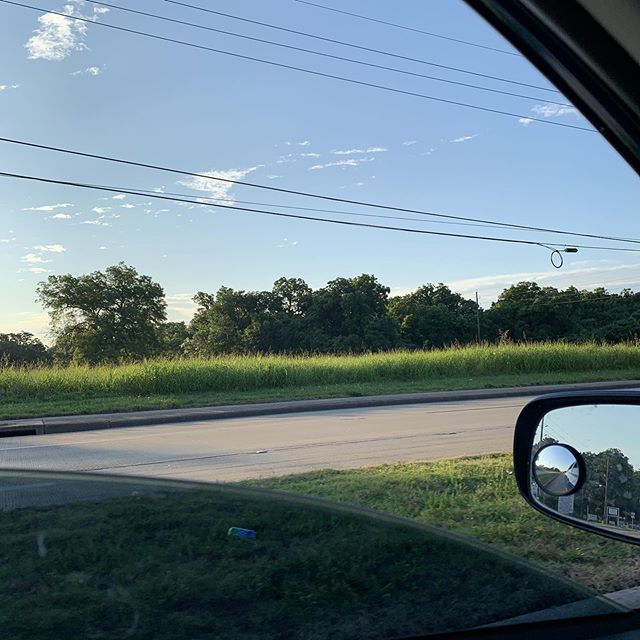 I don't know how, or why, but I'm comfortably able to drive with the windows down this morning. Enjoying it too.