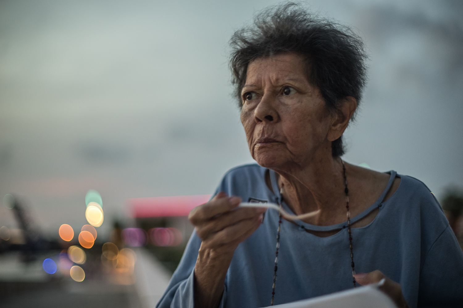 Cristine Carreras (67) in Downtown Tampa. Debora took Cristine out of Woodbridge Rehabilitation Center. When she first entered Woodbridge,Cristine weighed 93lbs (42kgs or just over 6 stone).