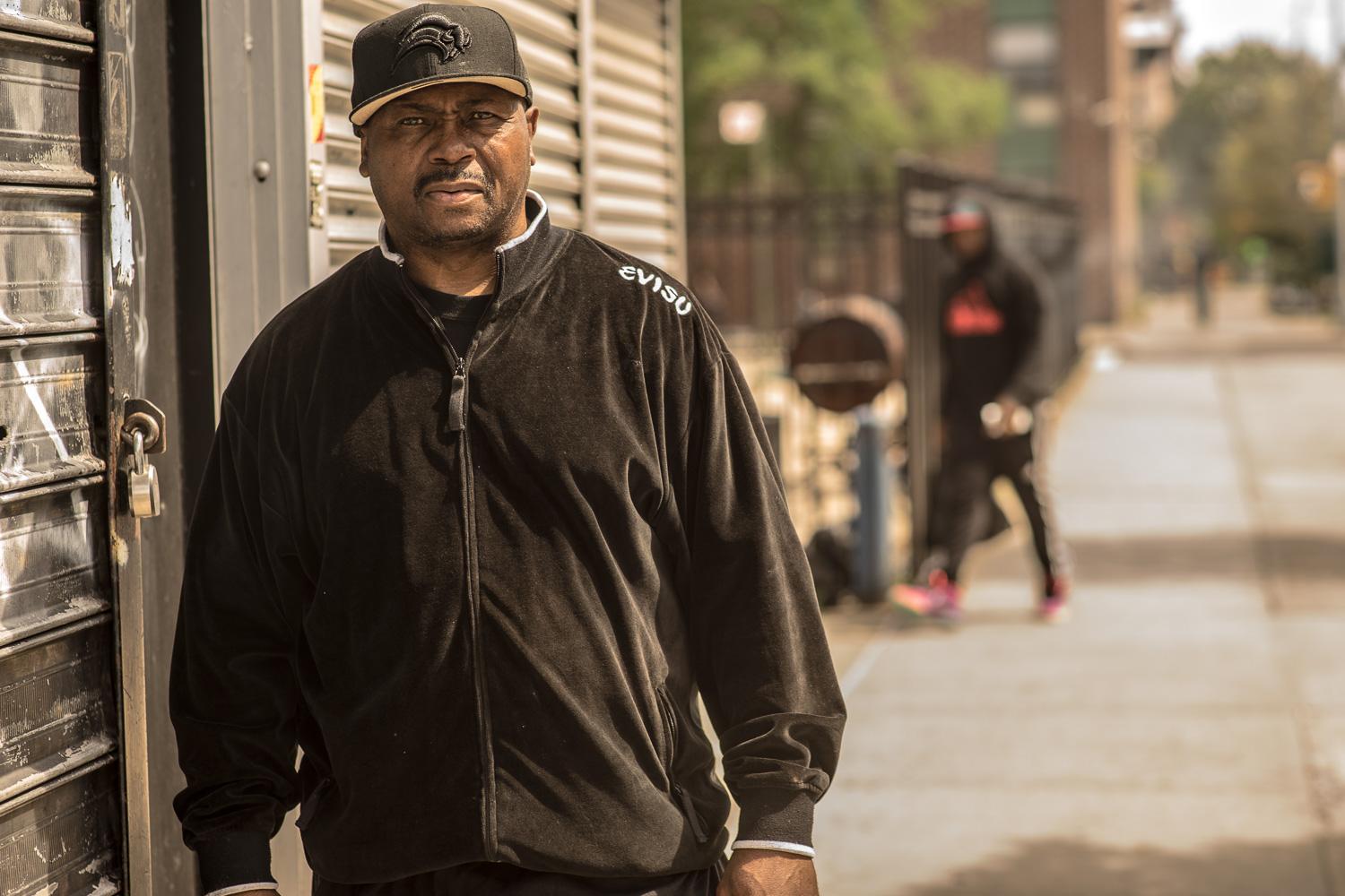 """""""I've been here 35 years"""", says Nate Boyd (50) in a resonant, strong voice. Nate, who lost his son to gun violence on the streets of Bedstuy, trains youth at the Bedstuy boxing gym 6 days a week, all year long. He does this for no financial reward."""