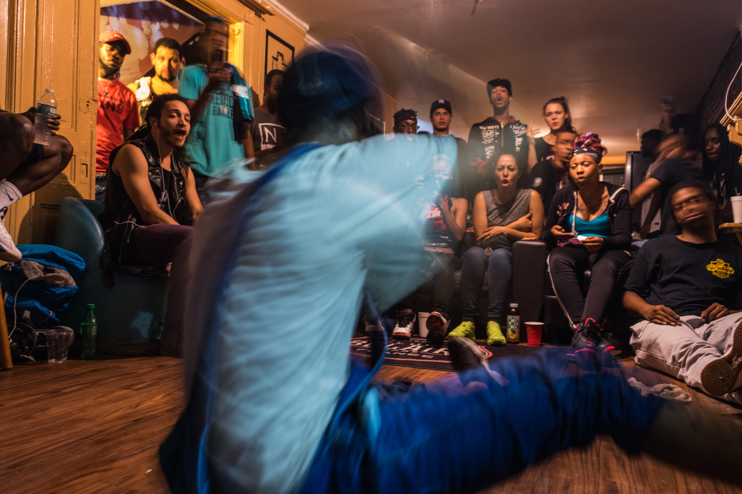 A Bruk Up dance battle where dancers take turns performing in front of the the crowd at the Slaugherhouse. The crowd decide who wins by how loud and long they shout.