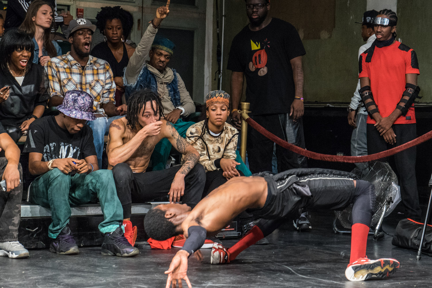 Skillful young dancers compete at a dance event in the Bedstuy area of Brooklyn. The dance events give young people the opportunity to compete against each other, make friends and settle differences in a positive environment rather than violence.