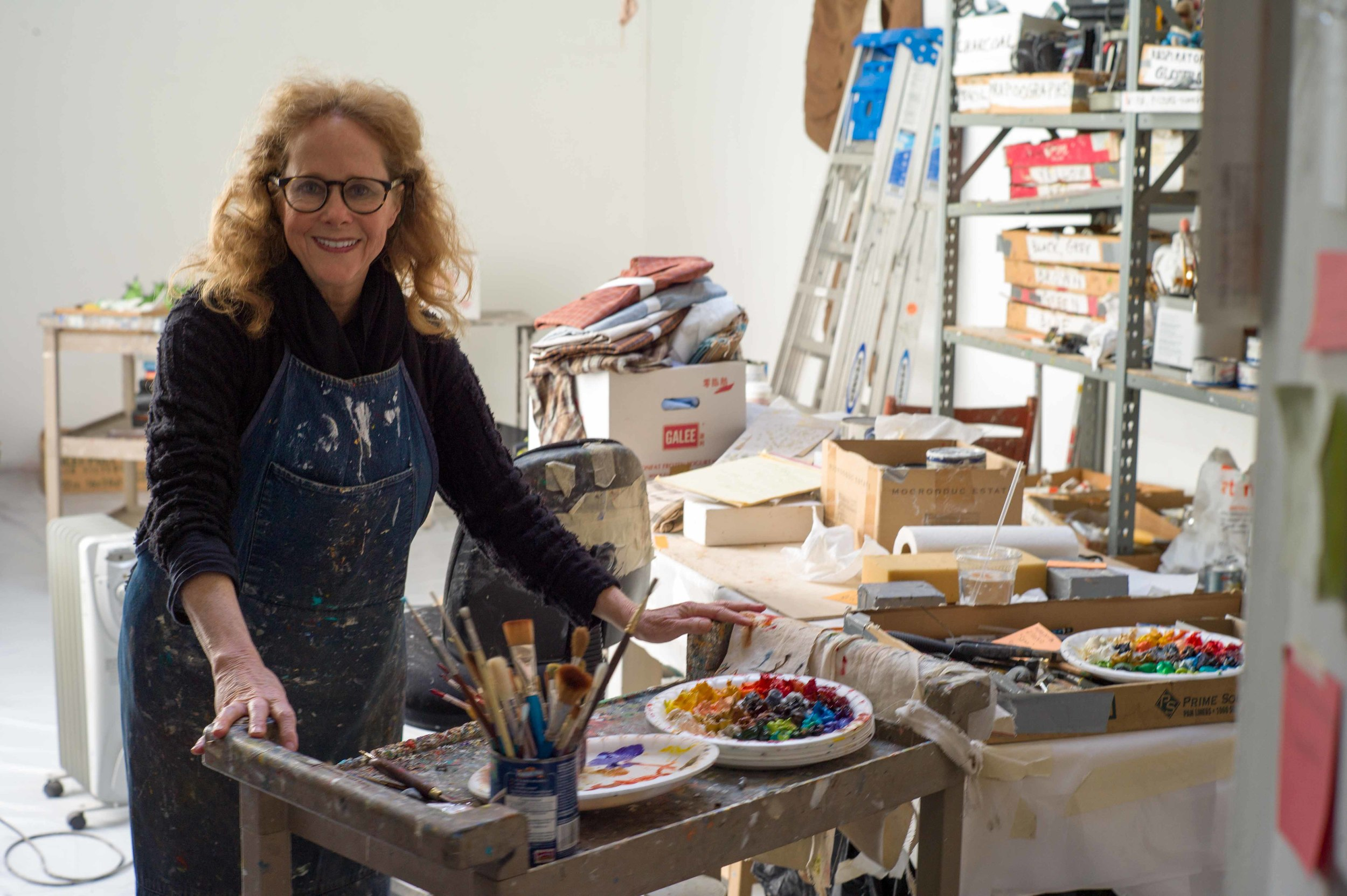 Sydney Russell /  Prepping for an upcoming galley show in downtown San Francisco.
