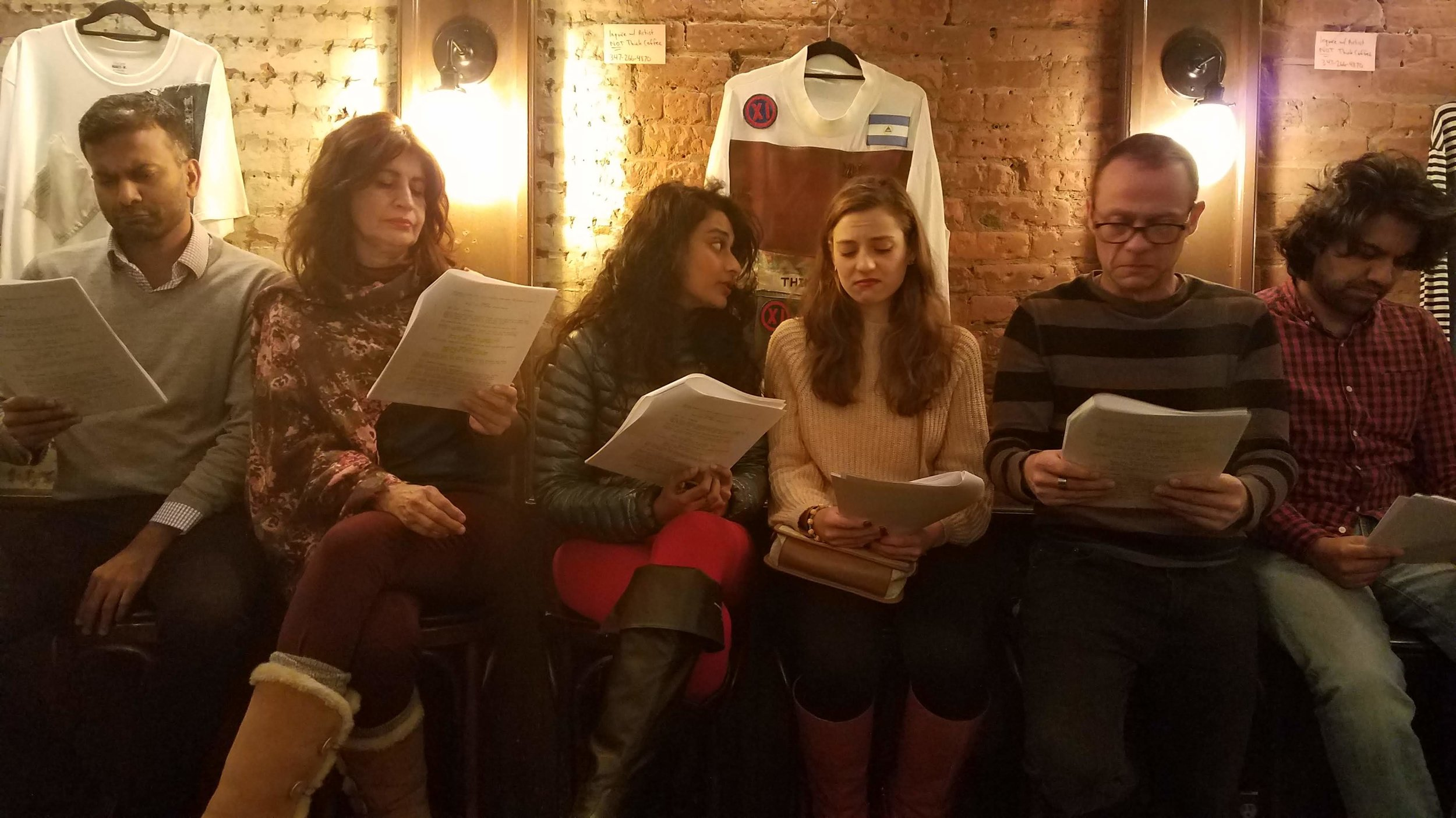 Golden City: A New Path by Sydney Burtner, with Sajeev Pillai, Sonia Lopes, Preeti Gupta, Marisa Schmidt, Jamil Al-chokhachi, Imran Sheikh, and not pictured: Kyle Minshew and stage directions read by Robin Fusco