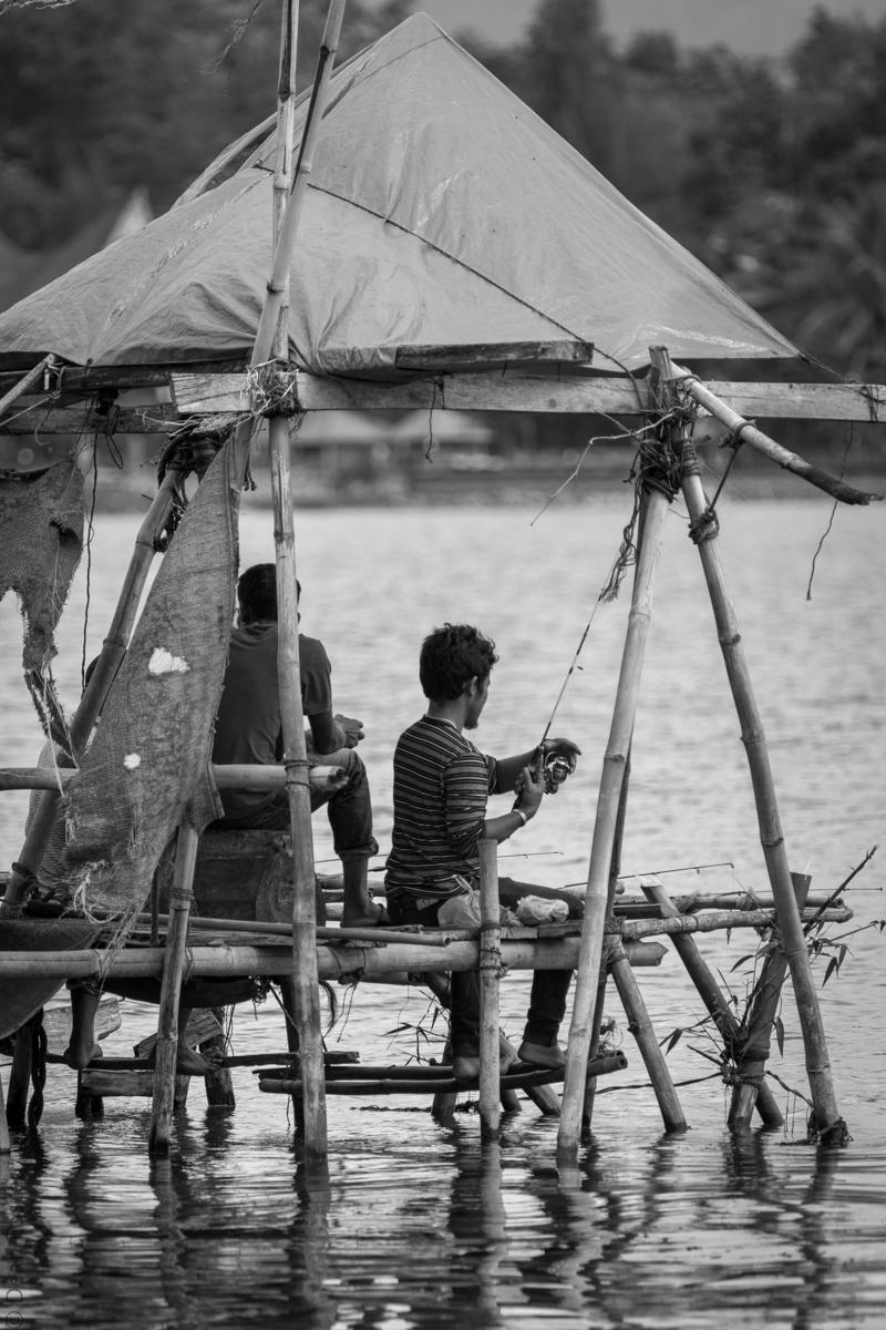 Local fishermen - Lake Toba, Indonesia