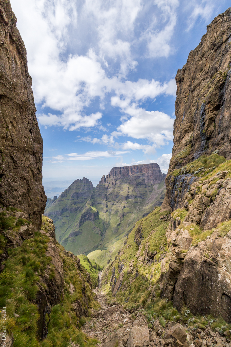 At the top of Gray's Pass,Central Drakensberg