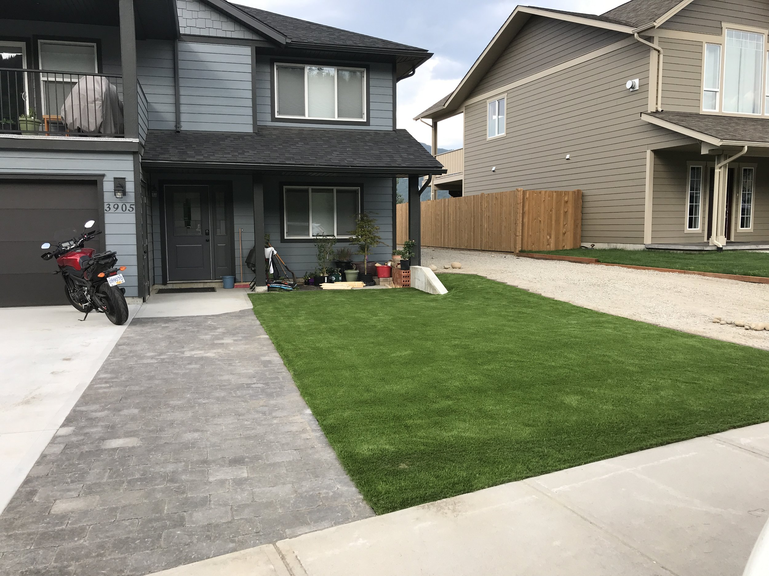 Our faux grass. No mowing, no watering, no worry.