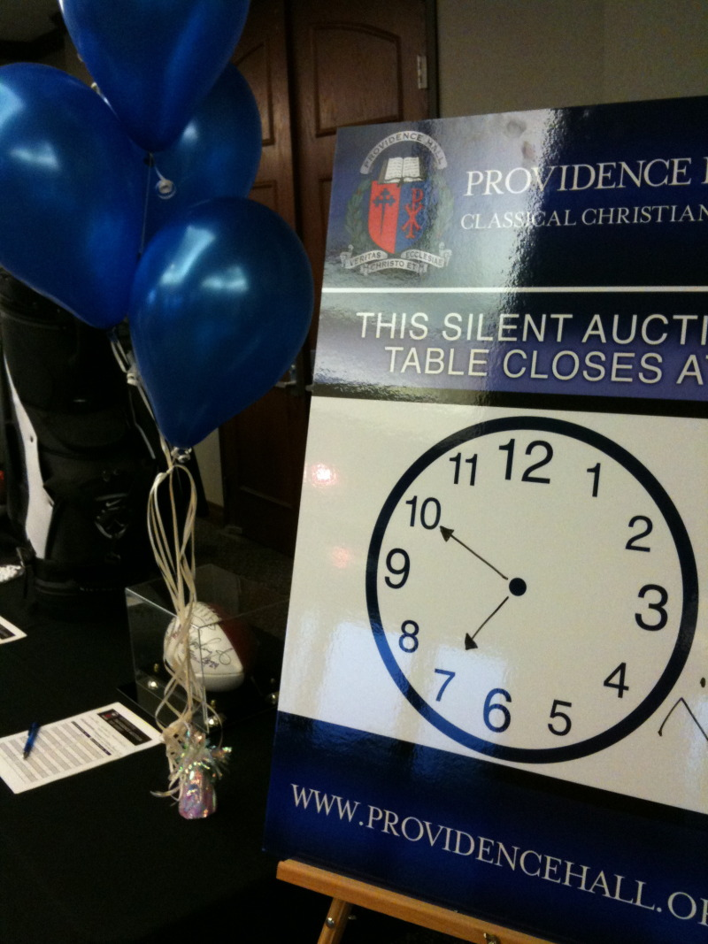 Great Silent Auction Sign