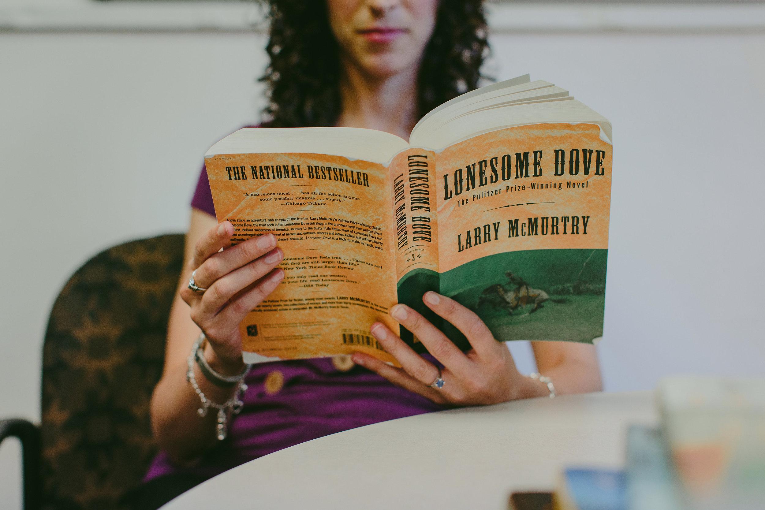 Jessica Beth Levine reading Lonesome Dove