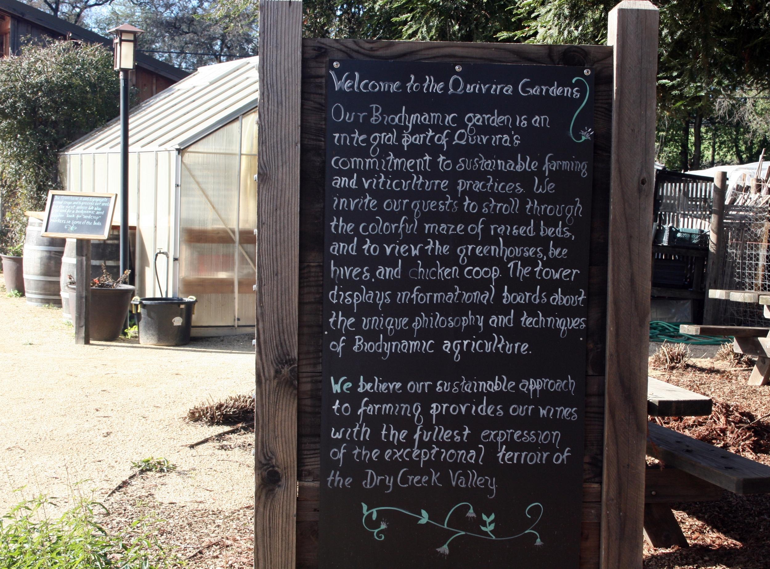 Quivira gardens in Healdsburg, CA