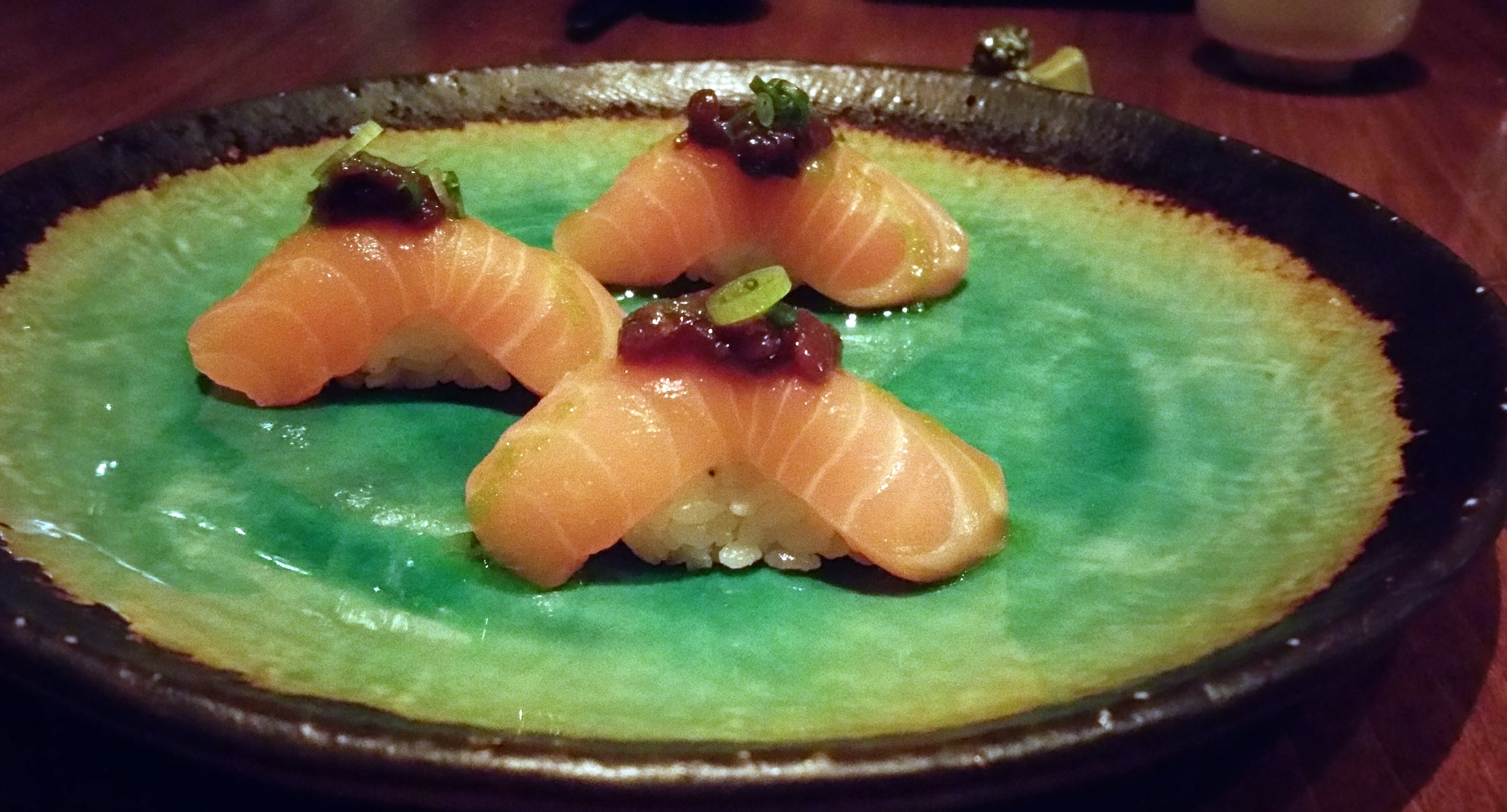 Salmon Sushi at O Ya in Boston