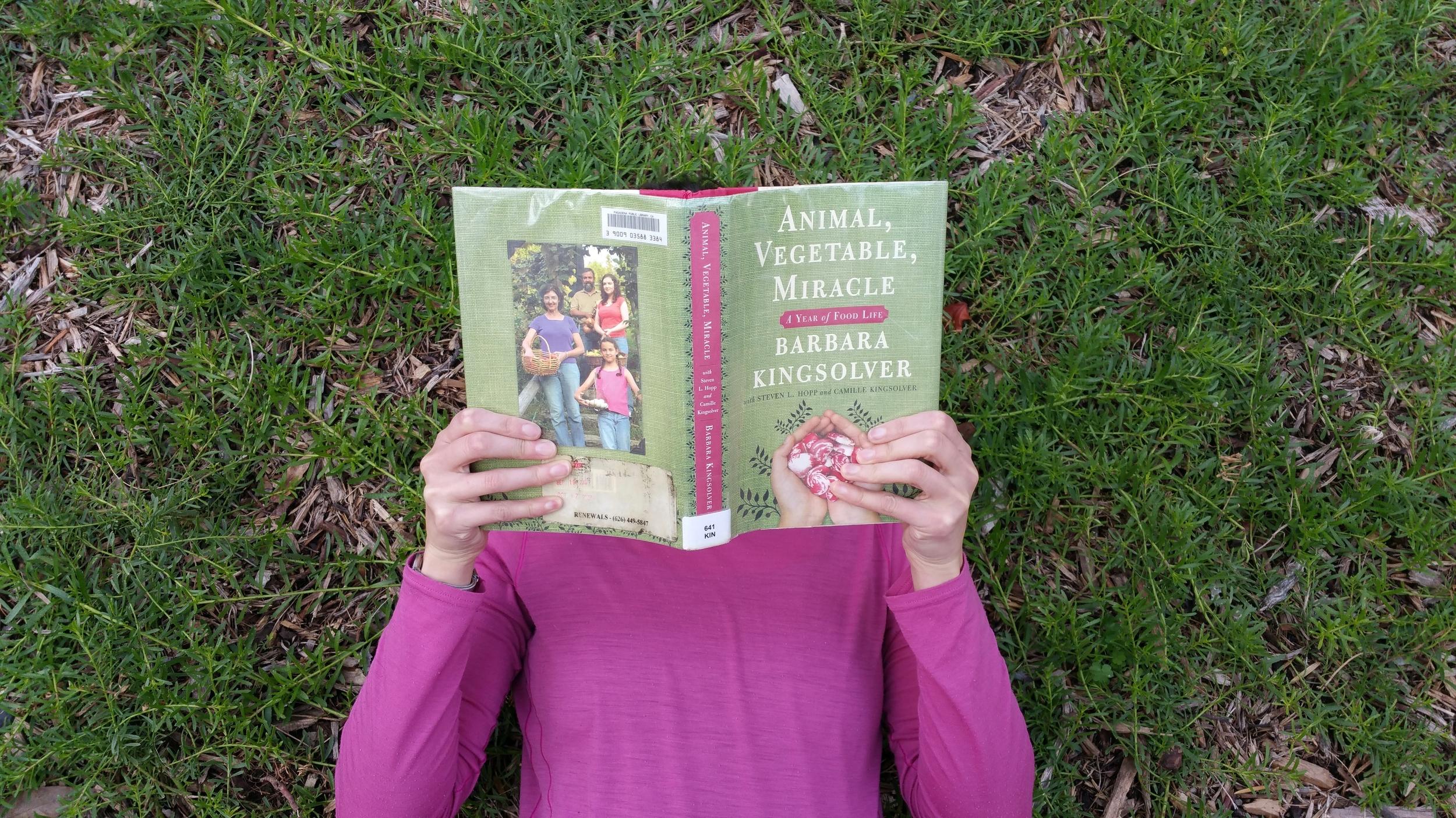 Reading Animal Vegetable Miracle