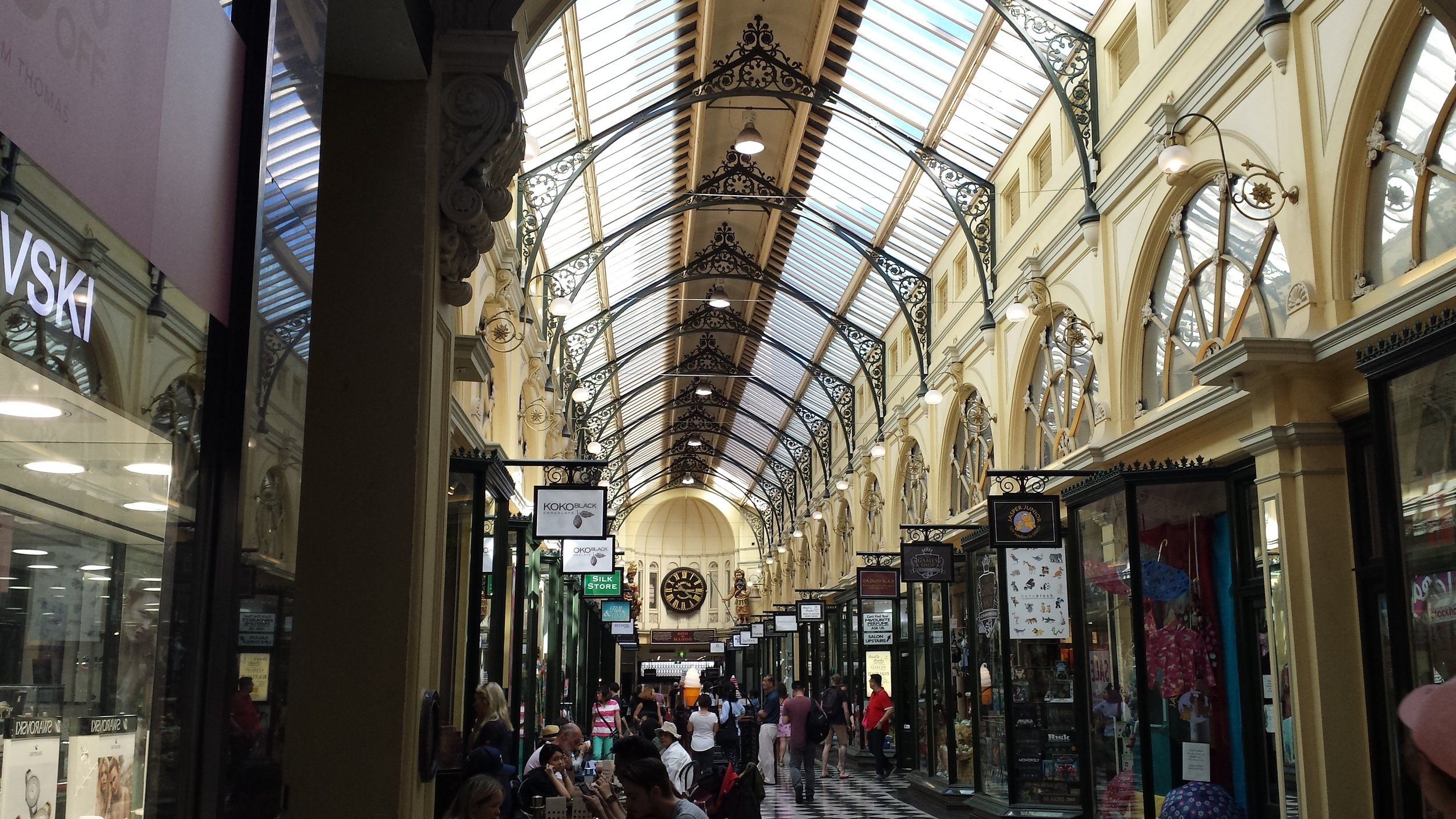 One of the many arcades hidden among Melbourne's streets.
