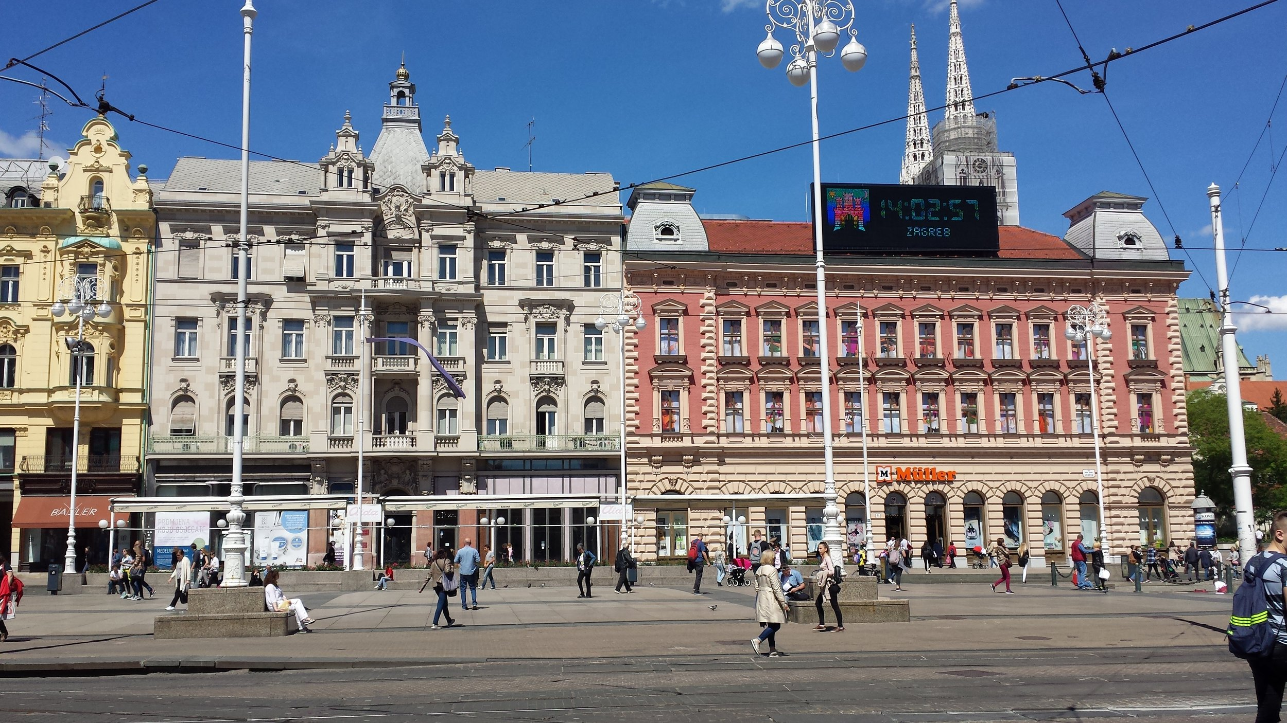 Walking around in Zagreb.
