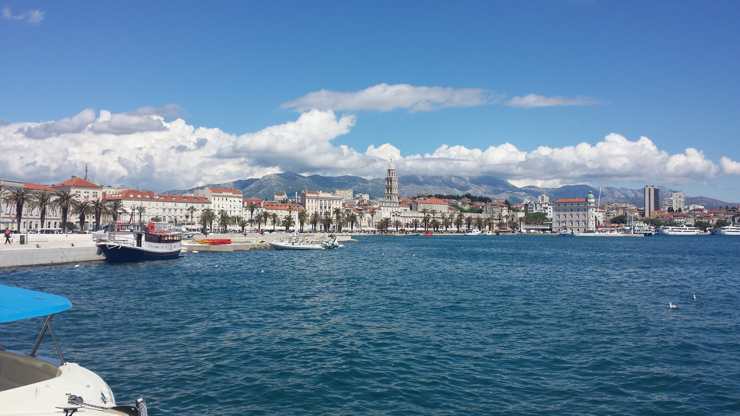 The view of Split from the harbor.