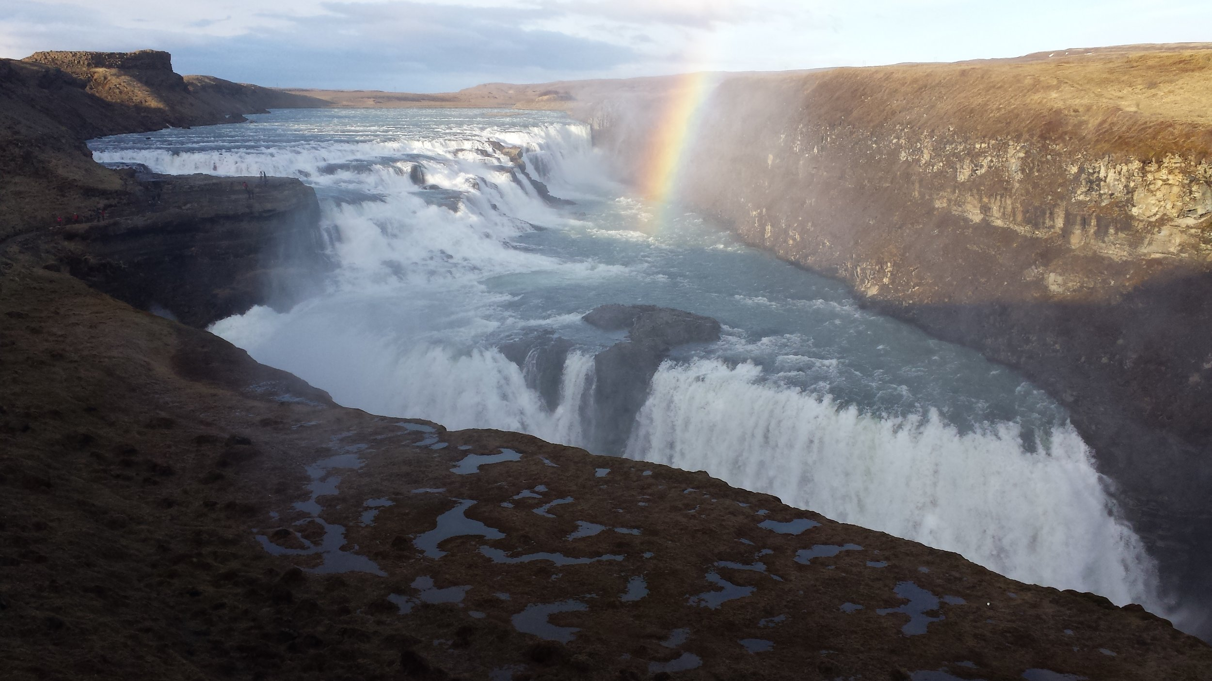 The massive waterfall, Gullfoss, also part of the Golden Circle.