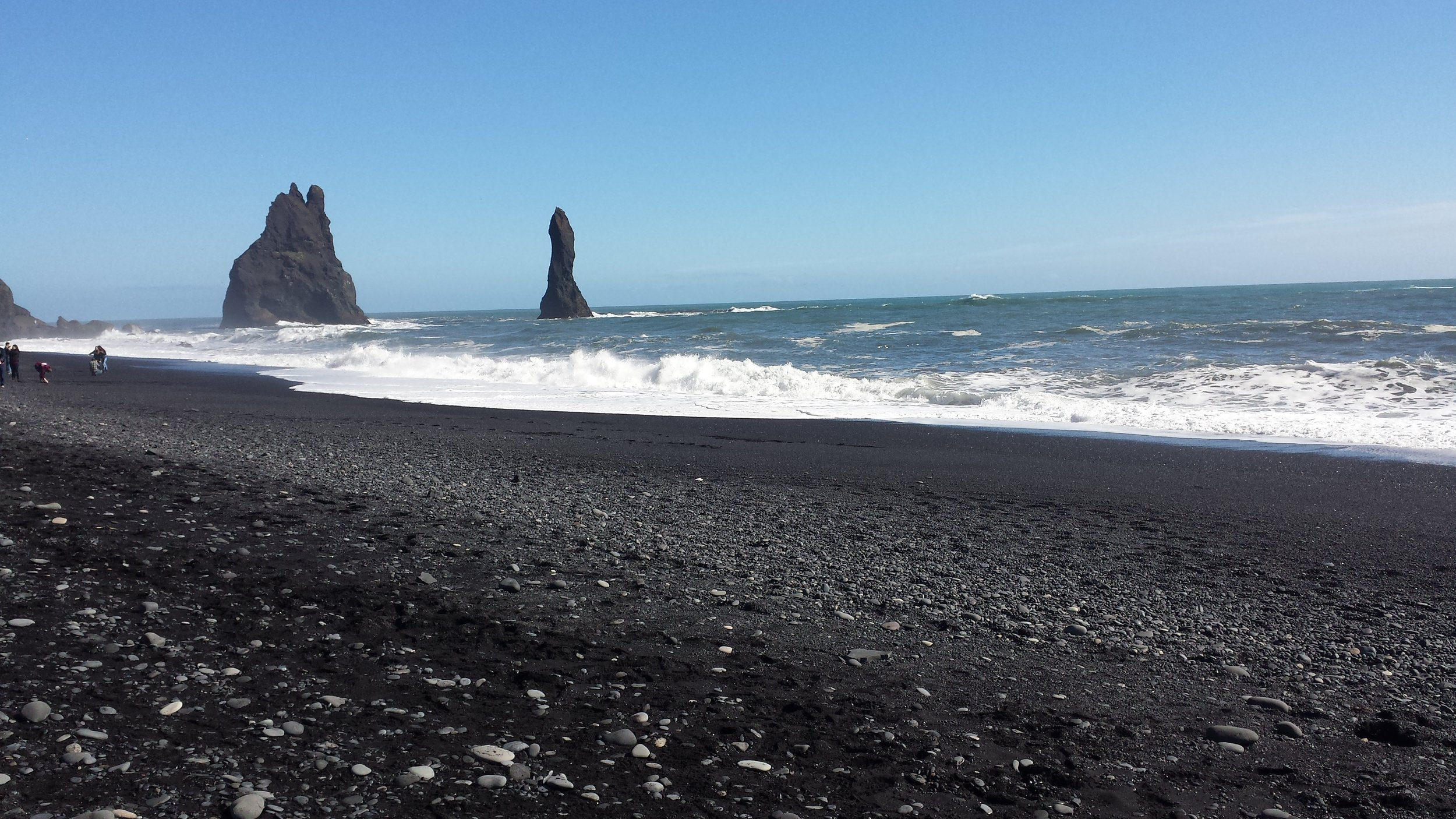 Black sand beach in South Iceland, near the town of Vik.