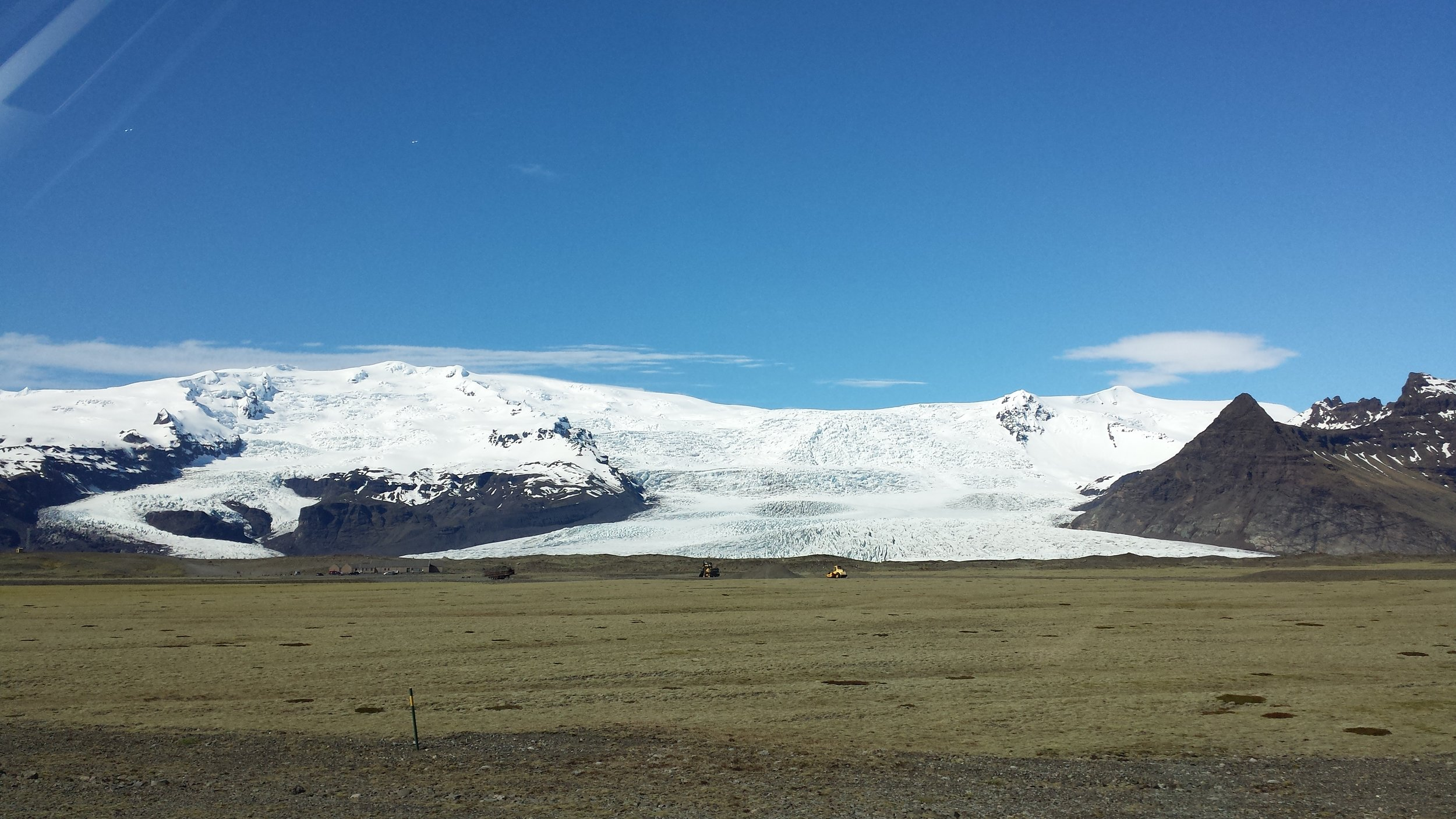 Beautiful glacier views from the road.