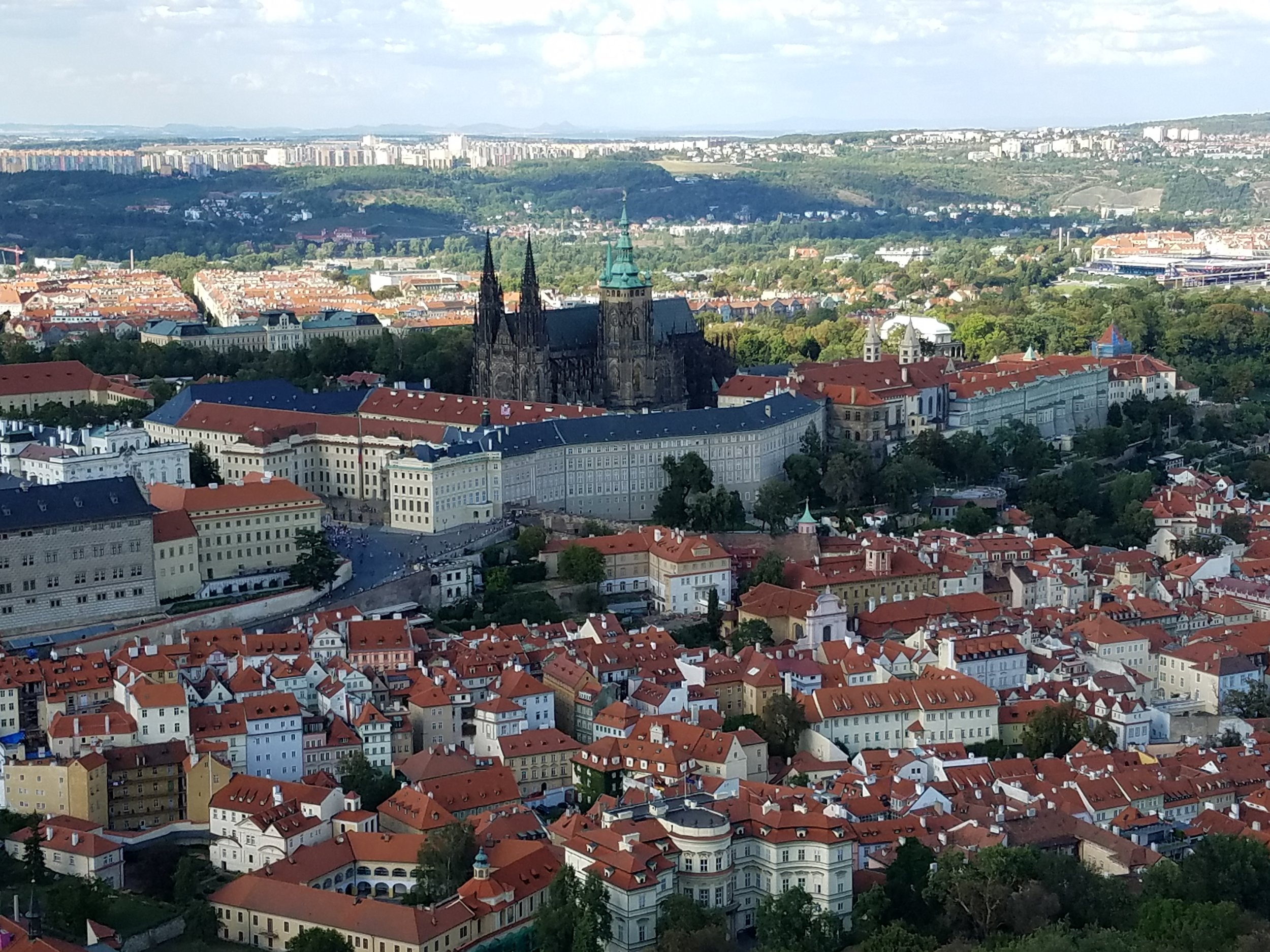 The Prague Castle complex.