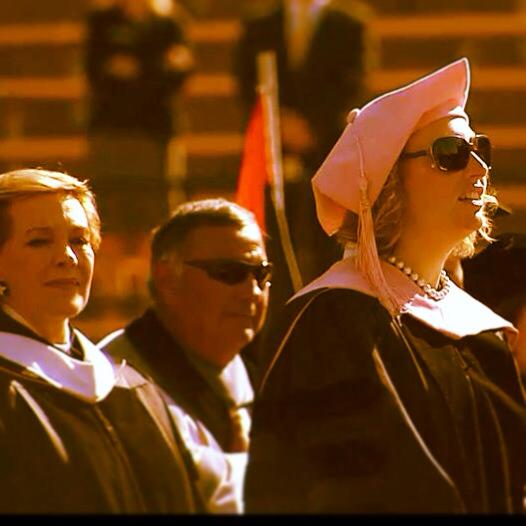 singing for Julie Andrews, University of Colorado Commencement, 2013