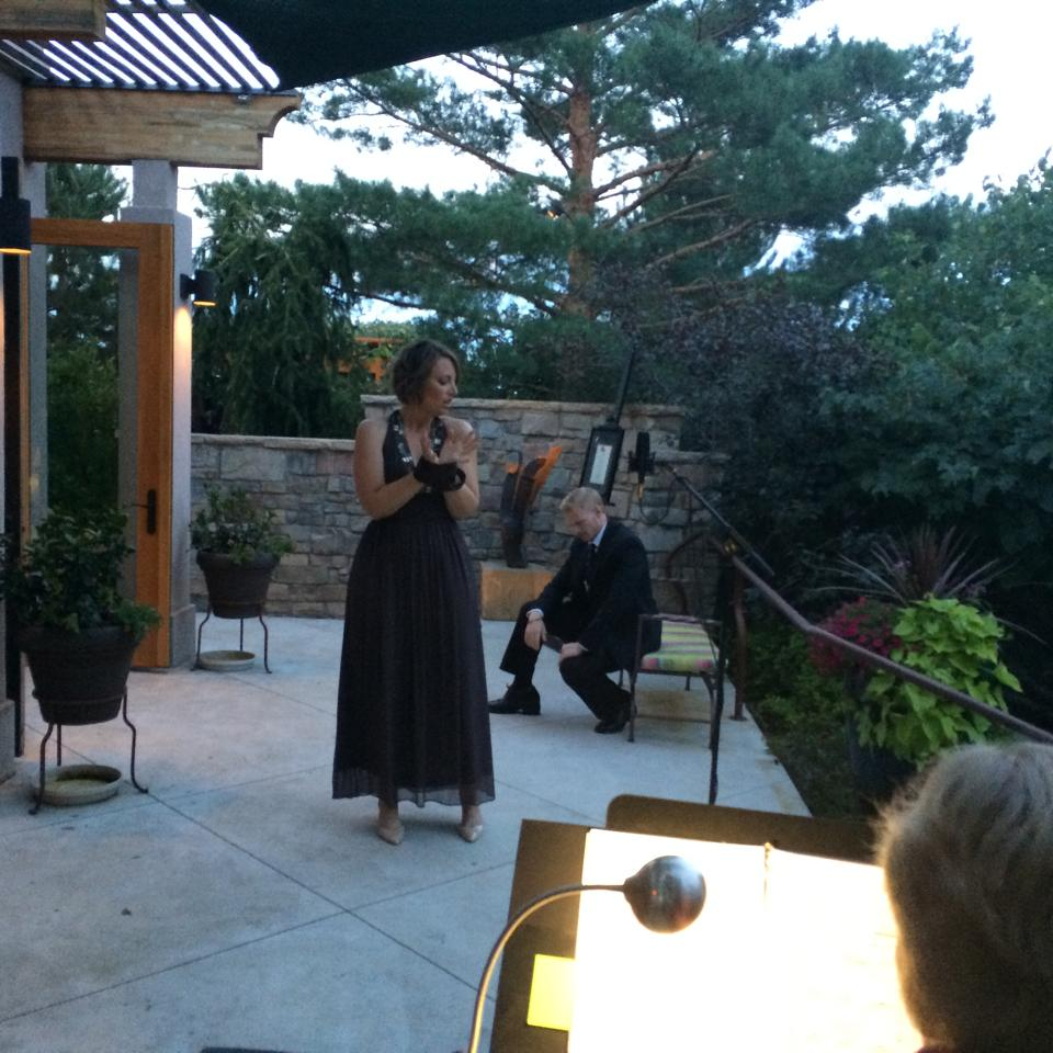 Carmen at an Opera Fort Collins Gala with John Lindsey, tenor