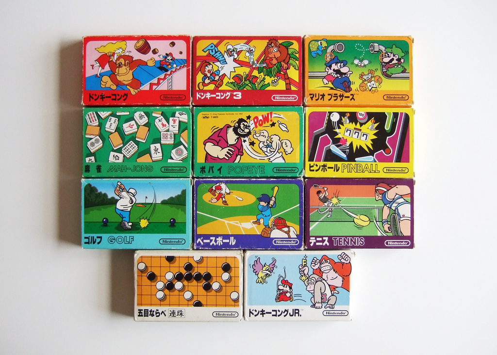 Famicom games. Photo by Bryan Ochalla.