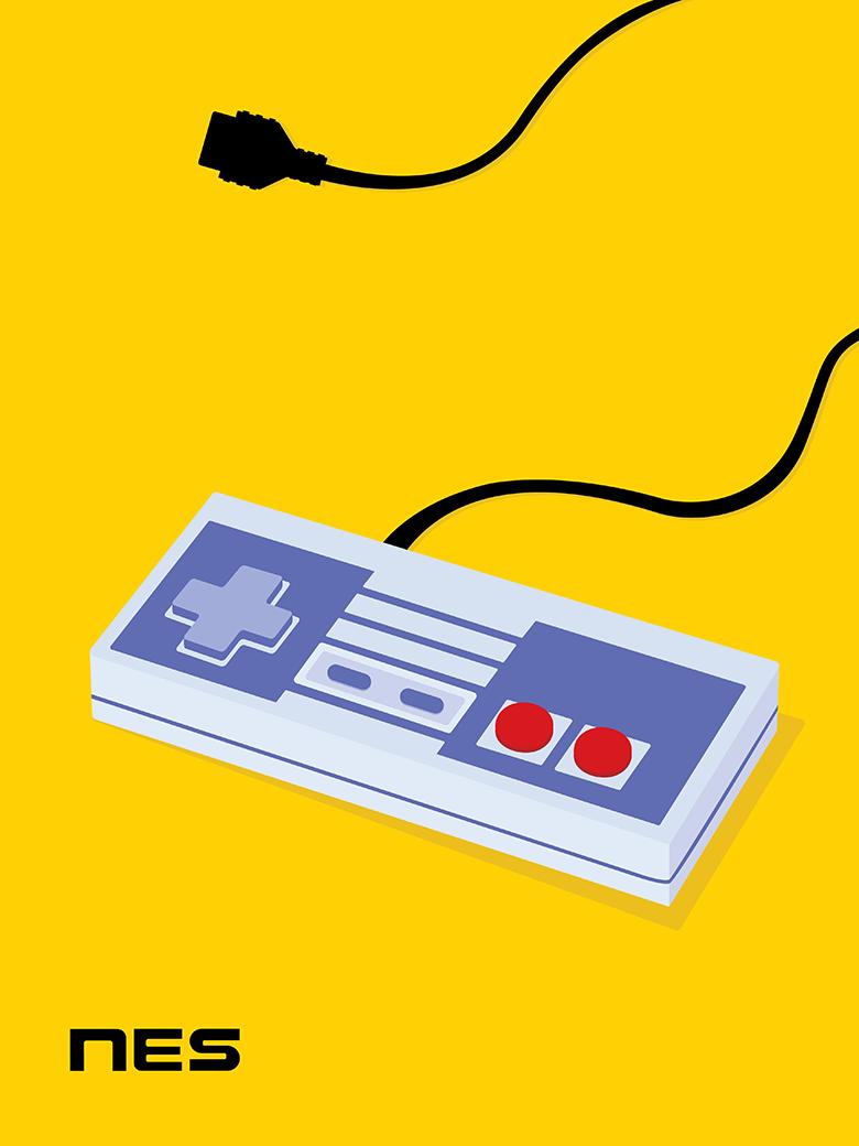 NES Controller Pop Art Print
