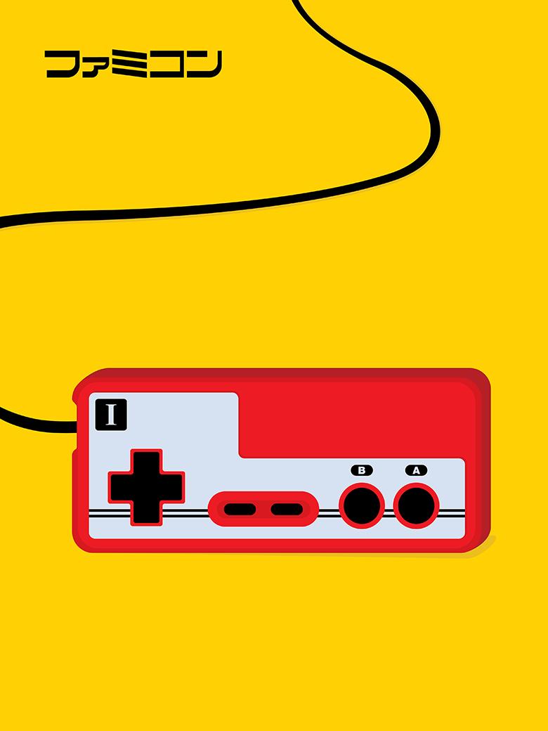 Famicom Controller Pop Art Print