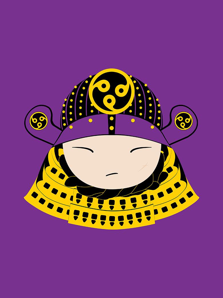 Samurai Warrior Pop Art Print