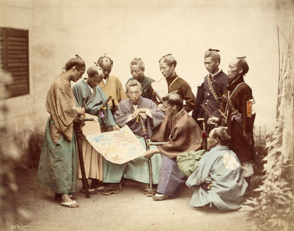Samurai of the Chosyu clan, during the Boshin War period (1860s)