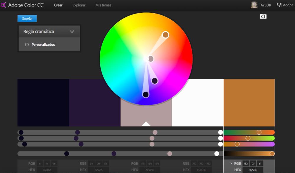 Final color palette