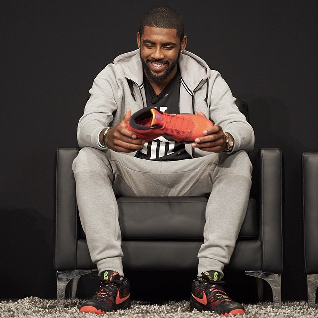 Name on the shoe. Pride in his heart.  #KYRIE1