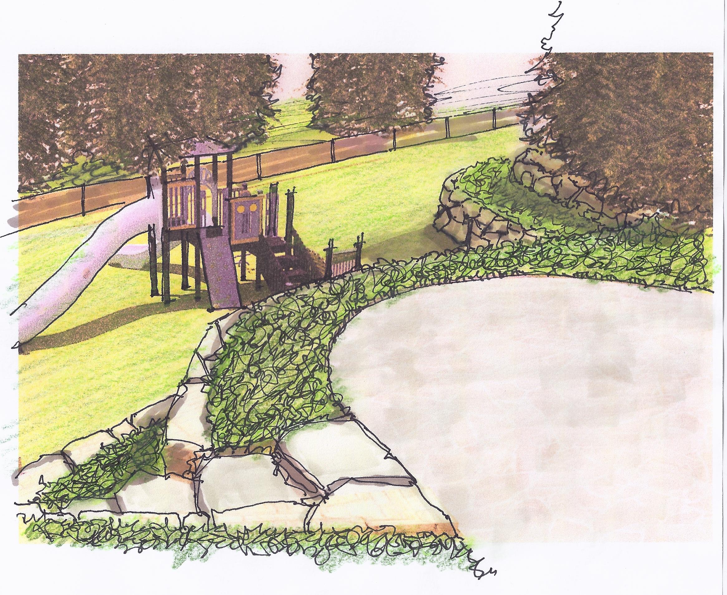 Manhasset Play Area Concept - Render 1