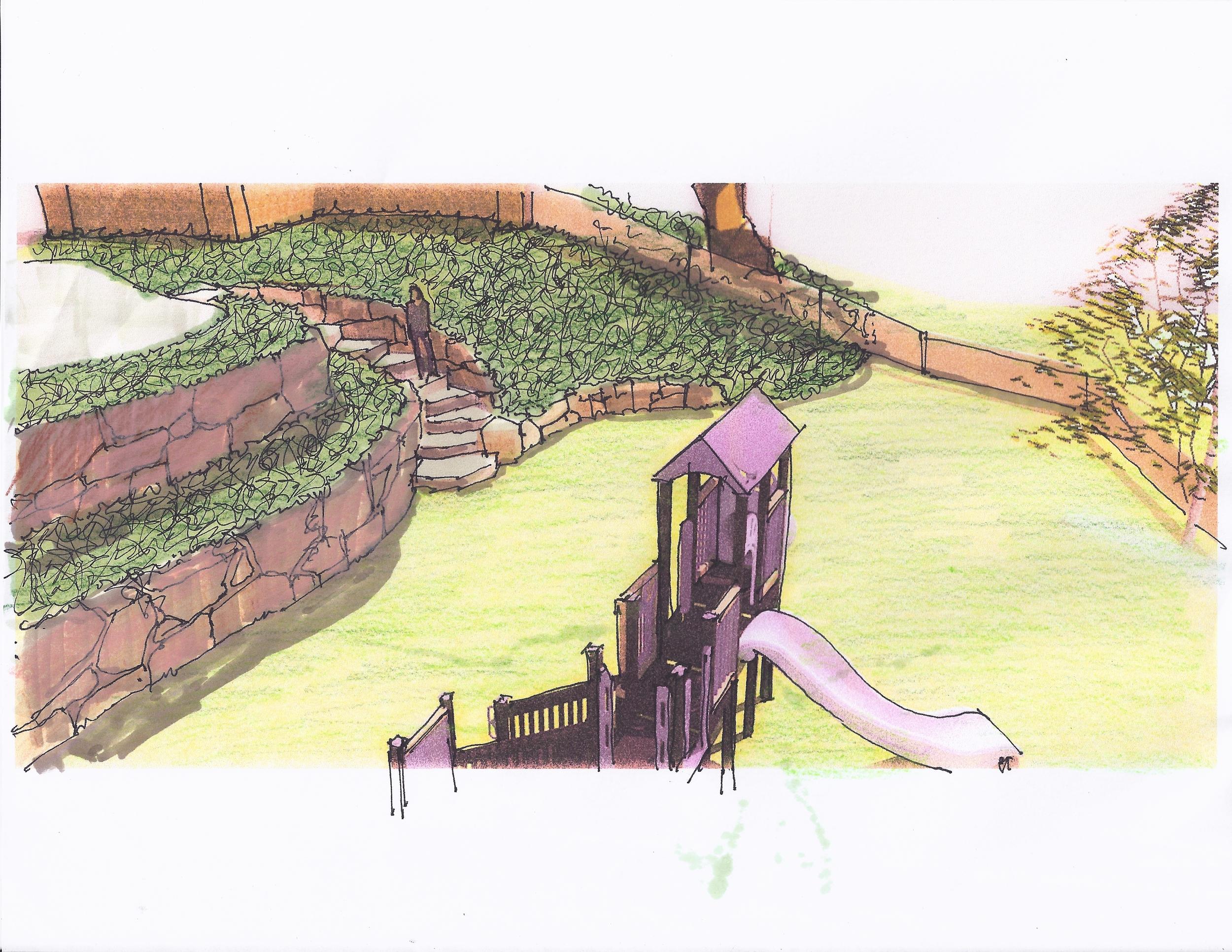 Manhasset Play Area Concept - Render 2