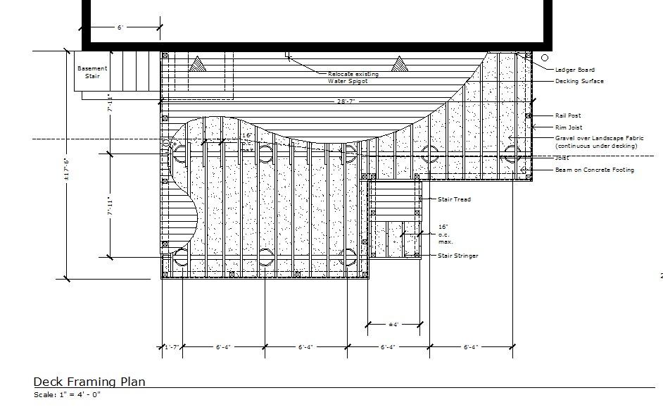 Deck Framing Plan