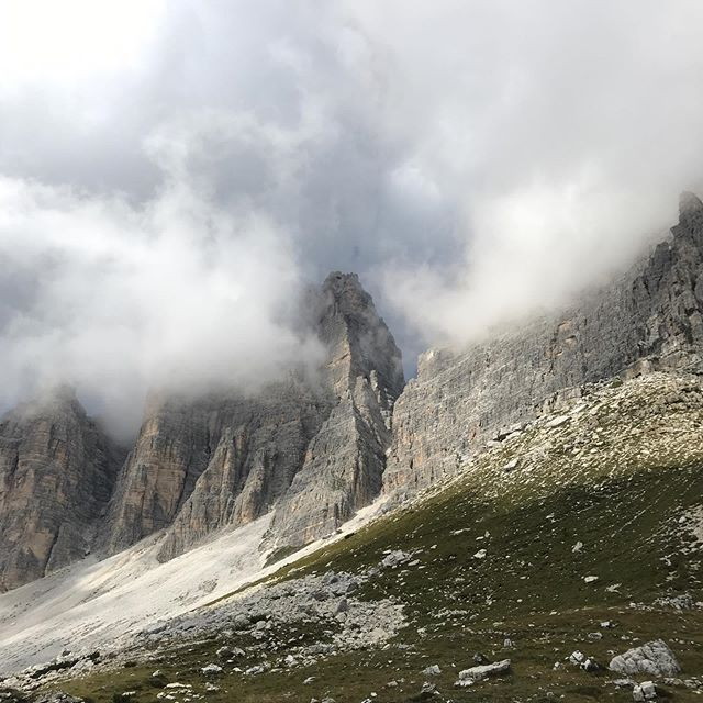 Walking in the Dolomites in northern Italy, seems like we are walking along the spine of the earth. A powerful and humbling reminder of our smallness and fragility yet the damage we are responsible for is staggering. Global Climate Strike this Friday 20 September. We'll be joining the strike in Treviso, Italy. 🌏❤️