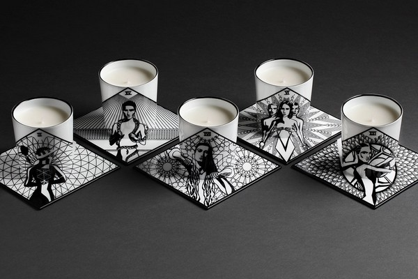 by kohl candles with coaster base thingys