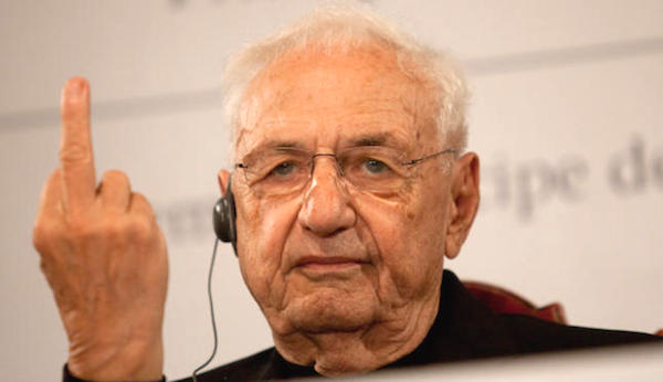 frank gehry getting right to it