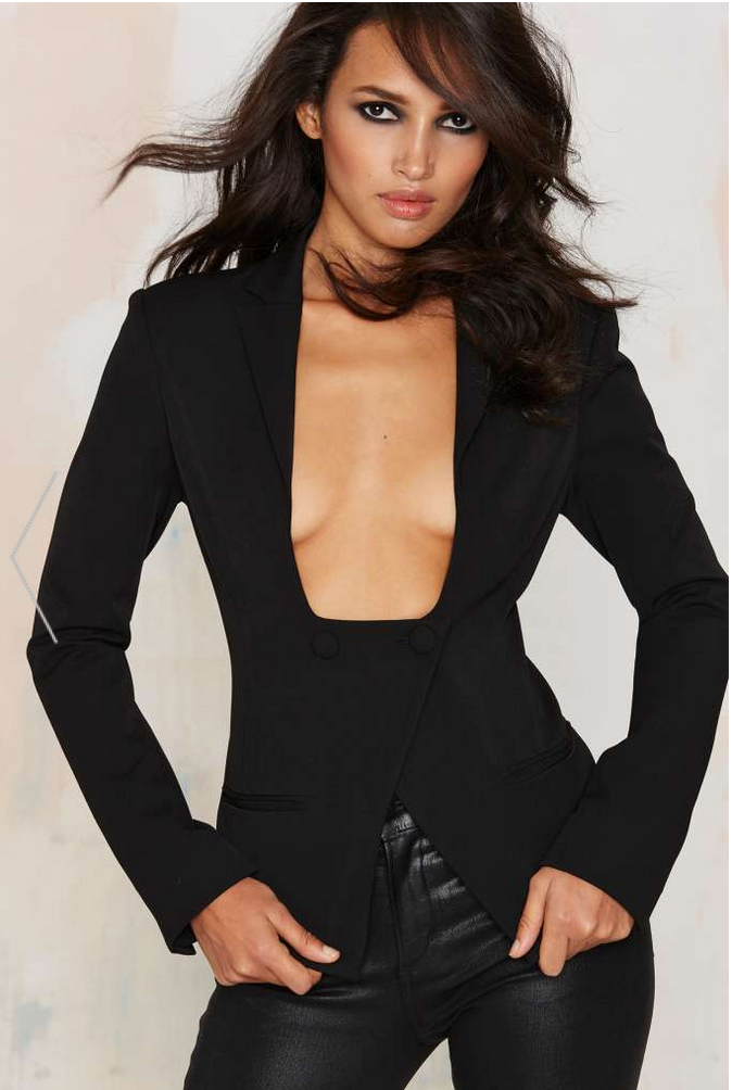 Nasty Gal Boss Move Asymmetrical Blazer