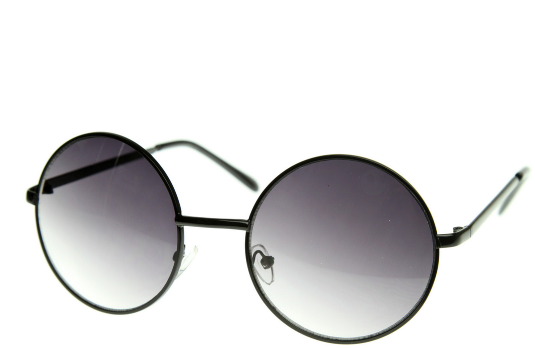 Medium Round Metal Fashion Sunglasses