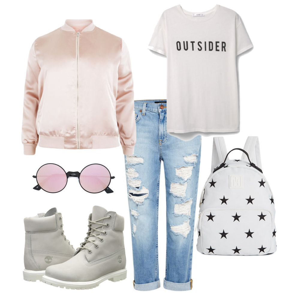 A more casual style for a airport look or a city walk!  SHOP THE POST: