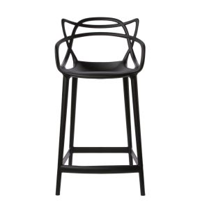 The 7 Series Starke Stool -Layering the shapes of classic chairs by three design masters of mid century:Arne Jacobsen,Charles Eames and Eero Saarinen. Image Source Pinterest.