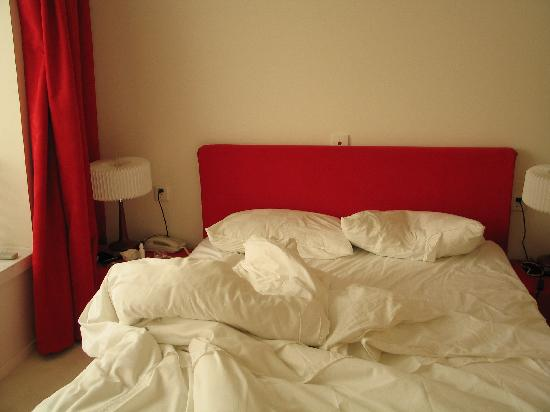 This is an unmade bed..... Image source withheld for shame reasons!