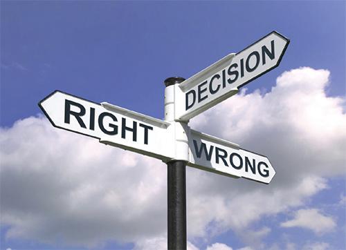 Making Decisions. Show me the sign. Image Source: themotivatedmindset.com
