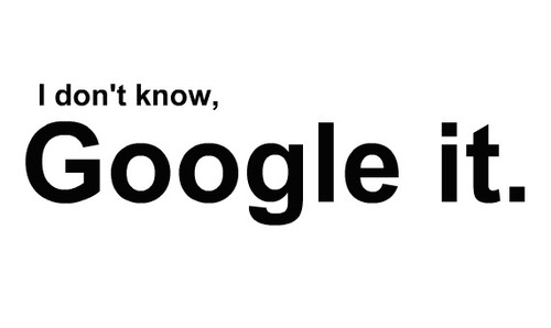 What did we say before google was here? Image Source : http://tothepointwithbozic.com