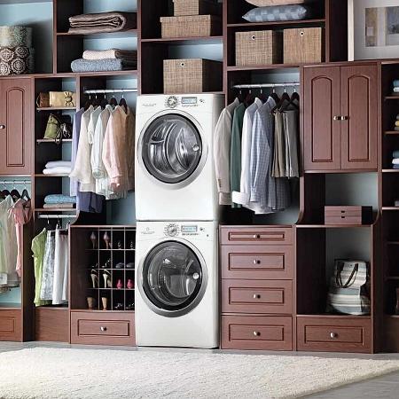 Laundry Wardrobe Combination. Image Source - Decoist.com