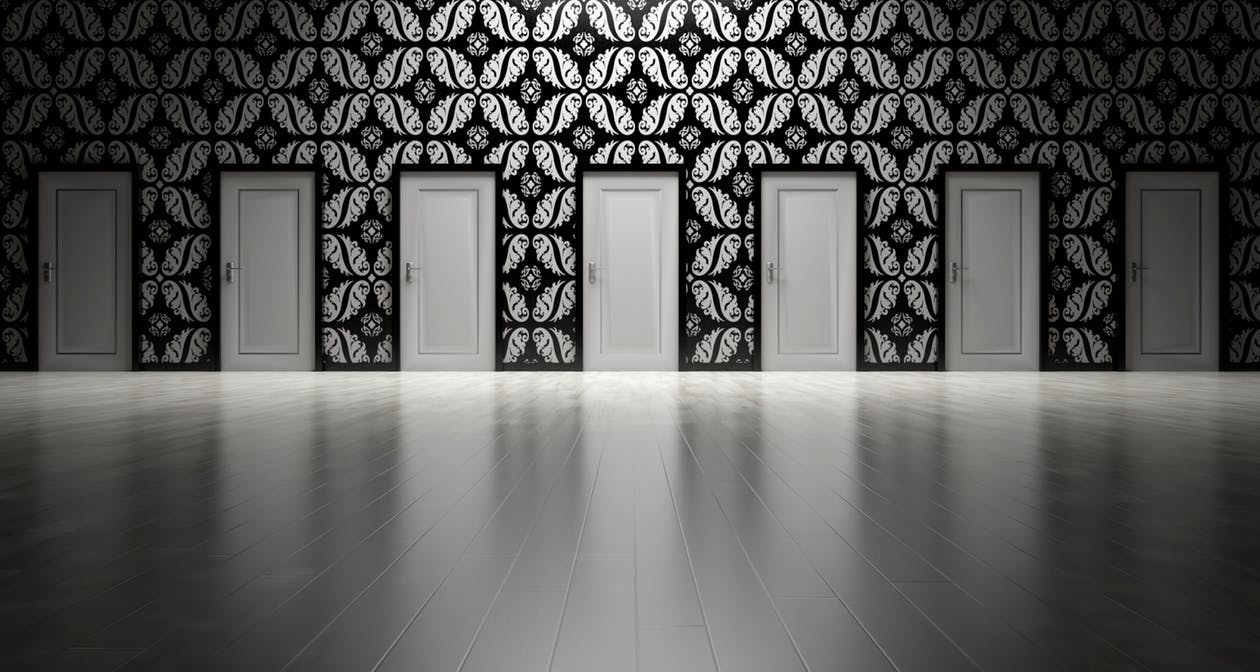 When faced with many options, its great to know which door to open. Image Source - Pexels.com